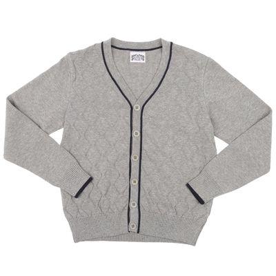 Джемпер для мальчика, рост 158 см, цвет серый