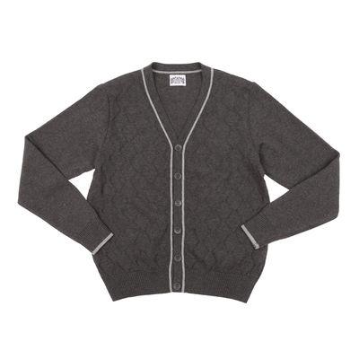 Джемпер для мальчика, рост 152 см, цвет серый