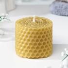 Свеча из вощины медовая 4 см  с маслом Гвоздика, репелентная