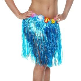 Гавайская юбка, цвет синий