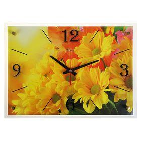 """Часы настенные, серия: Цветы, """"Жёлтые цветы"""", 40х56 см"""
