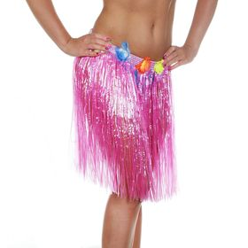 Гавайская юбка, цвет розовый Ош