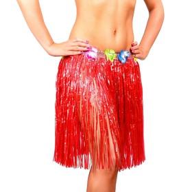 Гавайская юбка, цвет красный Ош