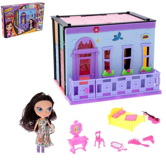 """Дом для куклы """"Спальня-2"""" с куклой и с аксессуарами"""