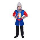 """Карнавальный костюм """"Рыцарь"""", р-р 32, рост 128-134 см, цвет сине-красный"""