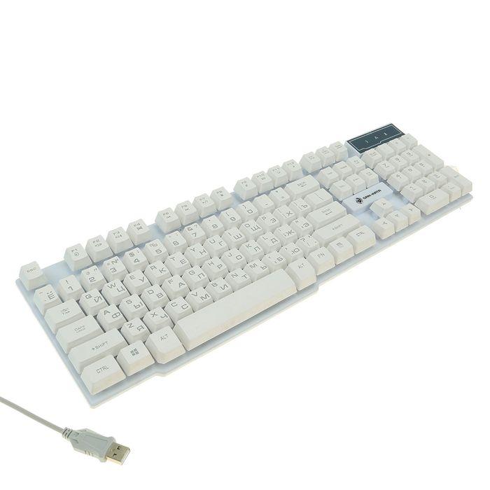 Клавиатура Dialog KGK-15U Gan-Kata, игровая, проводная, подсветка, 104 клавиши, USB, белая