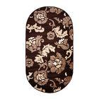 Овальный ковёр Carving 6609, 100 х 200 см, цвет brown - фото 7929248