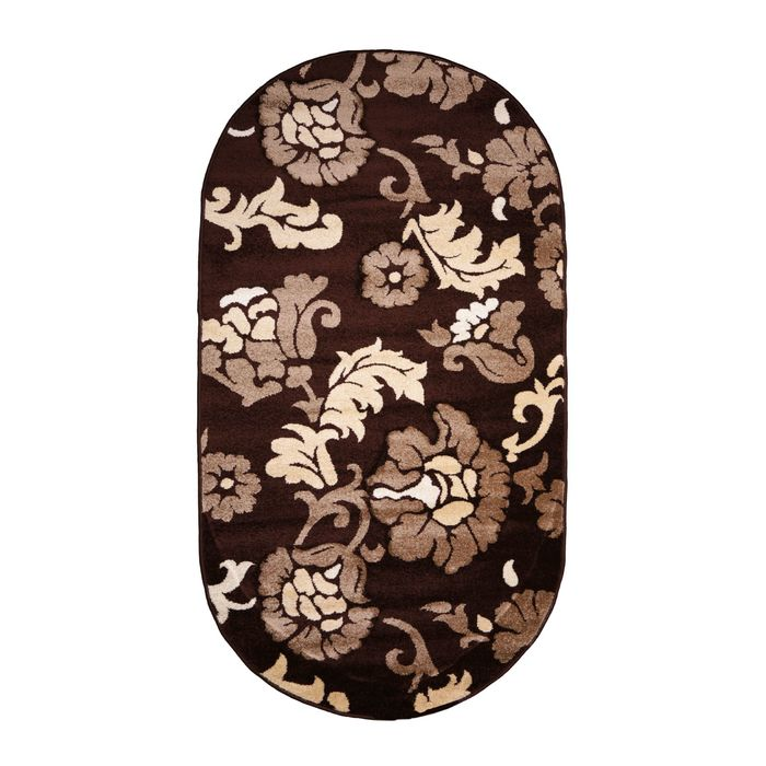 Овальный ковёр Carving 6609, 300 х 500 см, цвет brown - фото 7929251