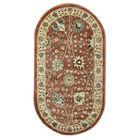 Овальный ковёр Jewel 8571, 200 х 300 см, цвет rust/ivory - фото 7929263