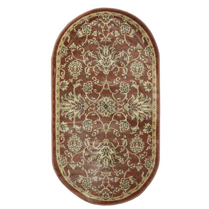 Овальный ковёр Jewel 8944, 100 х 200 см, цвет rust/rust - фото 7929265