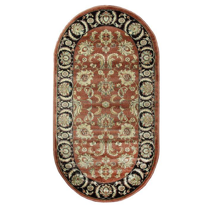 Овальный ковёр Jewel 8945, 100 х 200 см, цвет rust/plum - фото 7929268