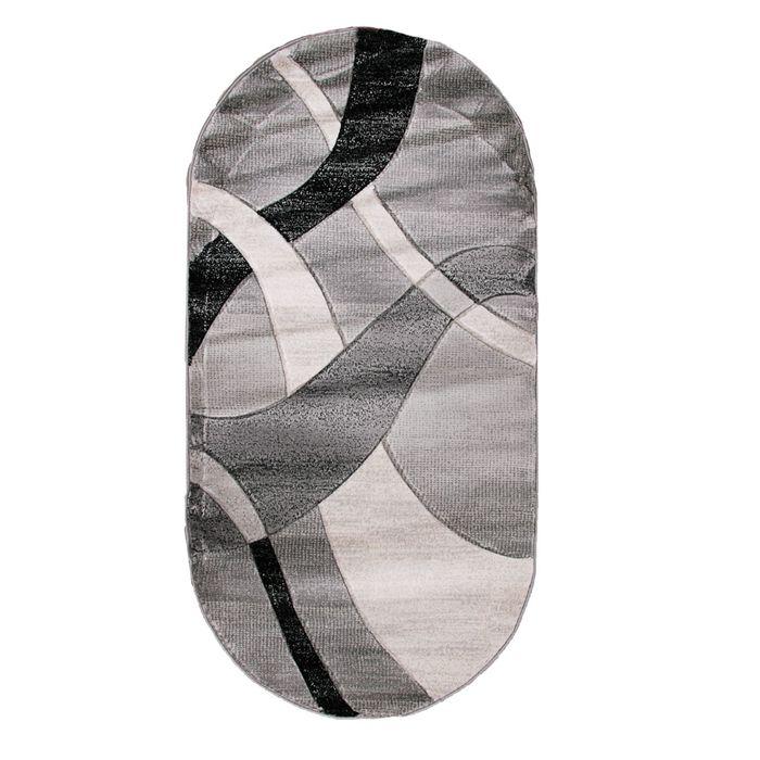 Овальный ковёр Omega Hitset 7690, 250 х 450 cм, цвет bone-d.grey - фото 7929055