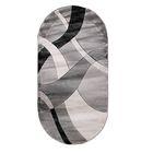 Овальный ковёр Omega Hitset 7690, 300 х 400 cм, цвет bone-d.grey - фото 7929056