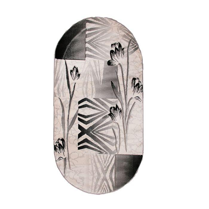 Овальный ковёр Omega Hitset 8398, 300 х 400 cм, цвет bone/d.grey - фото 7929060