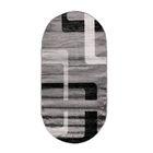 Овальный ковёр Omega Hitset F579, 300 х 400 cм, цвет bone-d.grey - фото 7929063