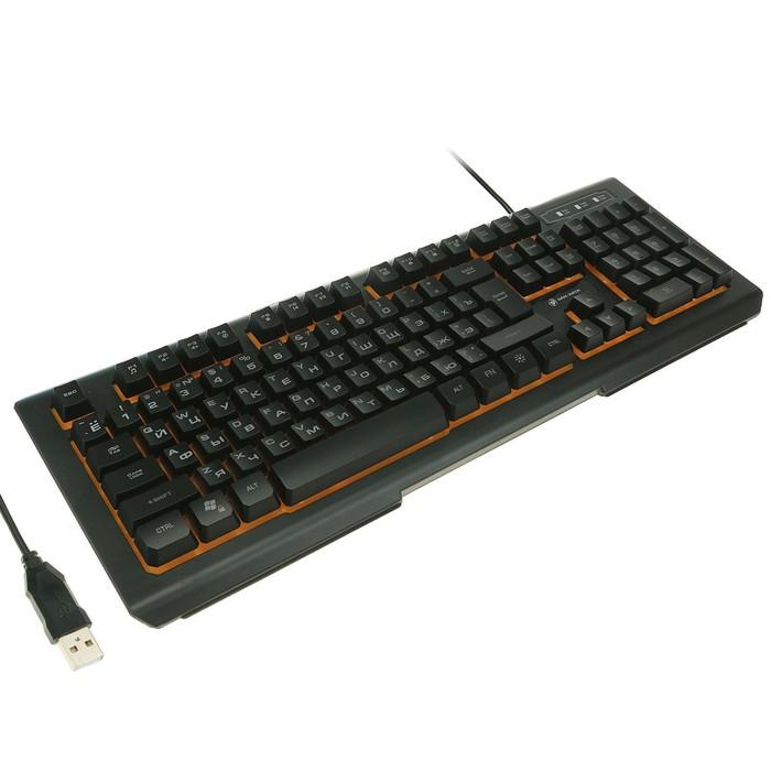 Клавиатура Dialog KGK-21U Gan-Kata, игровая, проводная, подсветка, 104 клавиши, USB, чёрная