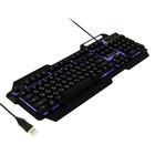 Клавиатура KGK-25U BLACK Dialog Gan-Kata, игровая, с подсветкой, корпус металл, USB, чёрная