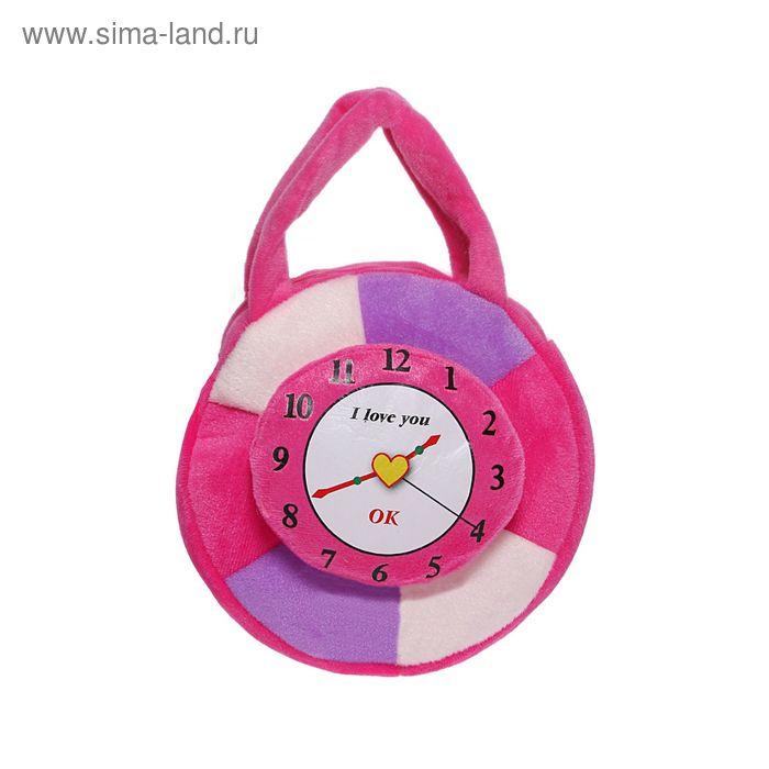 """Мягкая сумочка """"Часы"""", цвета МИКС"""