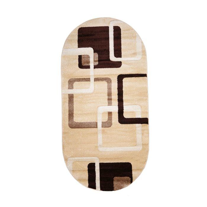 Овальный ковёр Carving 6608, 200 х 400 см, цвет vanilya - фото 7929304