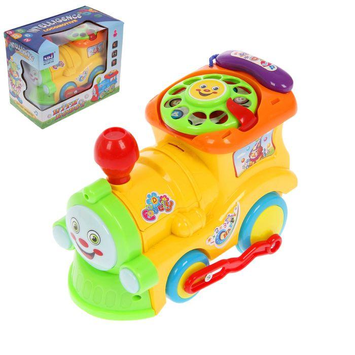 Развивающая игрушка «Паровоз» с трансформером, световой и звуковой эффект, МИКС