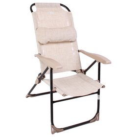 Кресло-шезлонг складное К2, 75 x 59 x 109 см, песочный