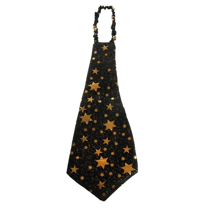 """Галстук """"Гигант"""", со звёздами, цвет чёрный"""