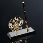 Ручка на подставке «Герб России», 16х6х20 см, с кристаллами Сваровски