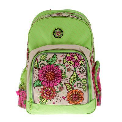 Рюкзак школьный эргономичная спинка для девочки Hatber 41*29*14 SOFT «Цветочный орнамент» NRk_16060