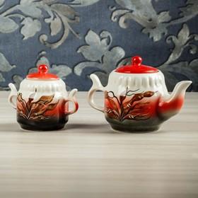 """Чайник и сахарница """"Красный камыш"""" чайник 0,75 л и сахарница 0,37 л"""