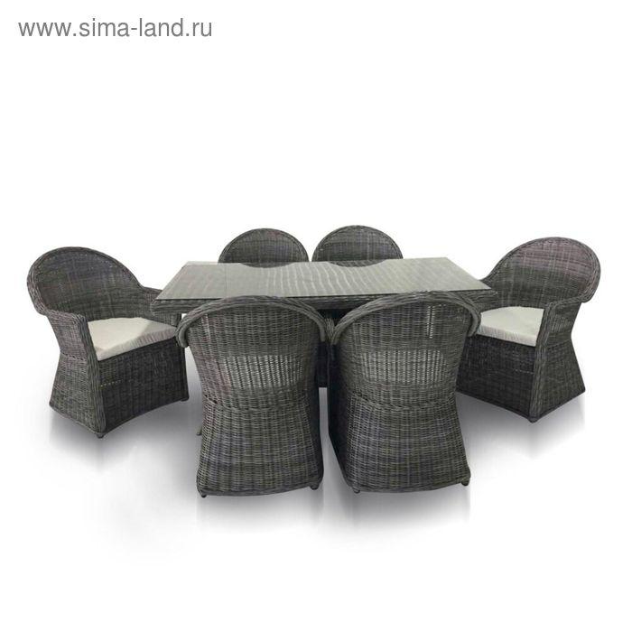 Комплект мебели на 6 персон, серый