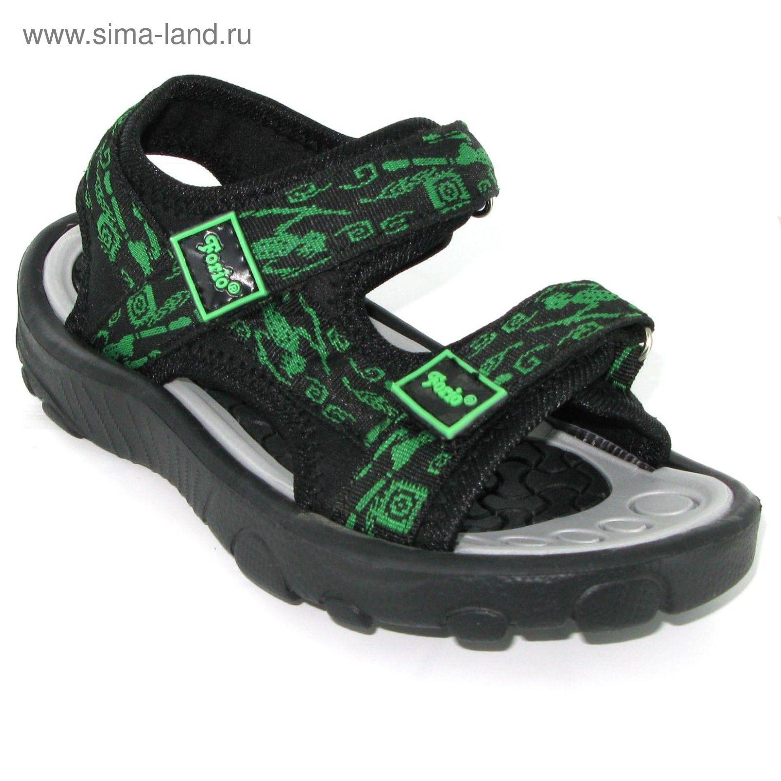 856e8a3da Сандалии детские Forio, размер 30-35, цвет чёрный/зелёный 258-7816 ...