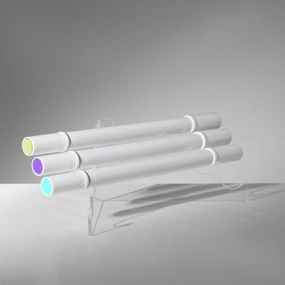 Угловая подставка под ручки 5 шт, 95*95*55, цвет прозрачный