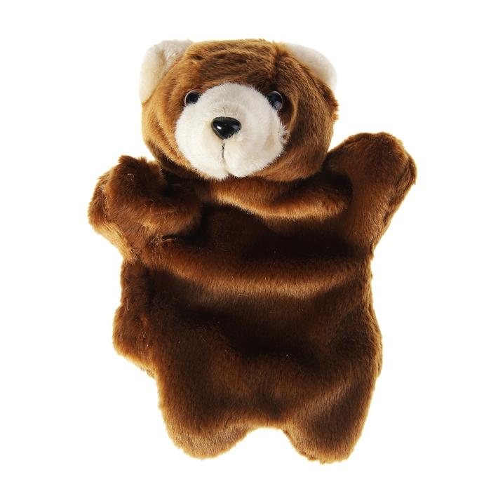 """Мягкая игрушка на руку """"Медведь"""", цвет коричневый"""