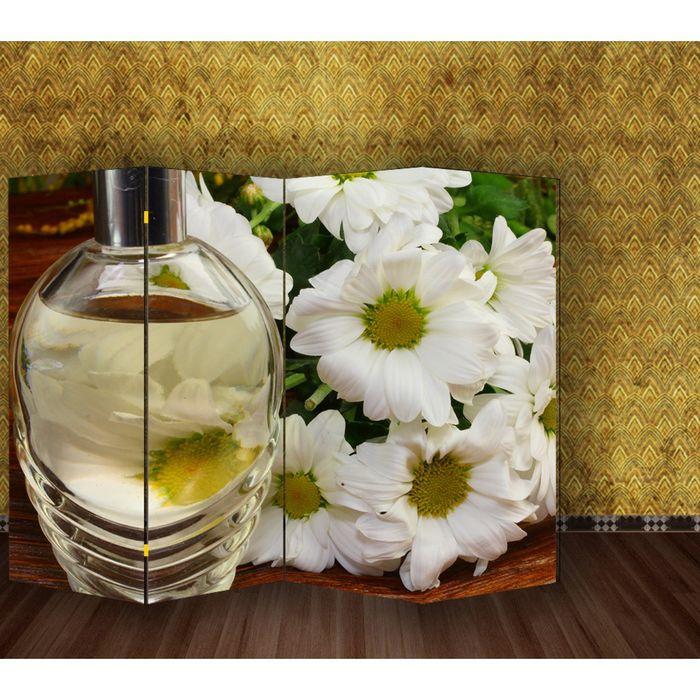 """Ширма """"Белые цветы"""" 200 × 160см"""