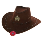 """Шляпа ковбойская """"Шериф"""" цвет т.коричневый"""