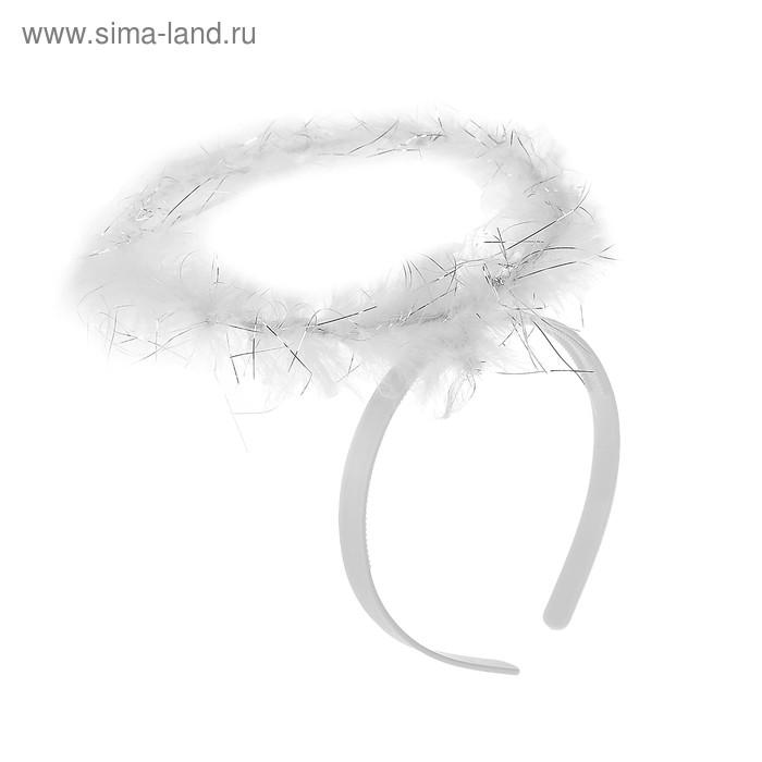 Карнавальный ободок нимб пух