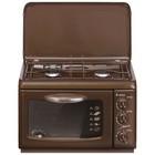 Плитка газовая Gefest 100 К19, настольная, 2 конфорки,  1700 Вт, 19 л, коричневая