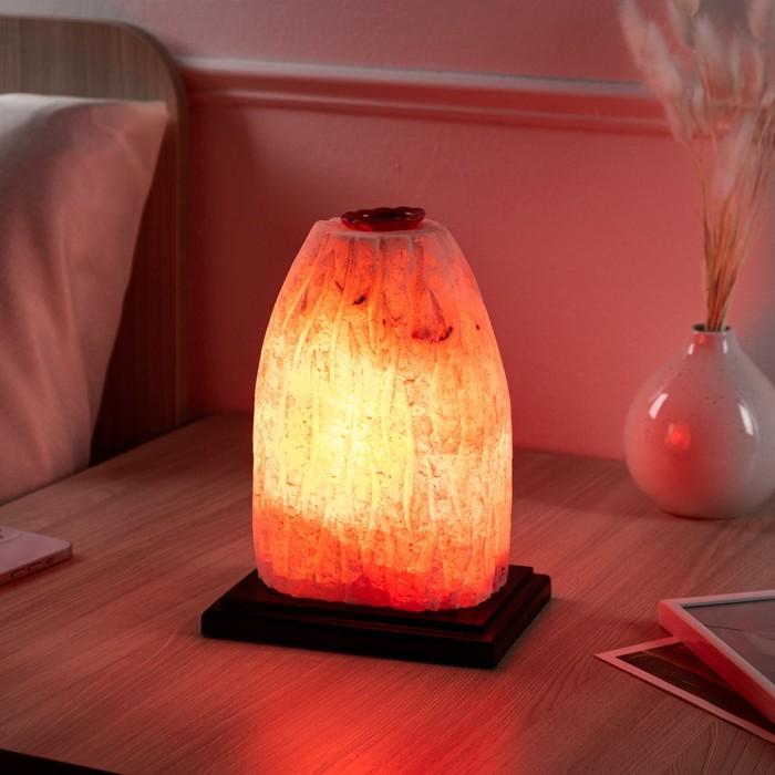 """Соляная лампа """"Гора Вулкан"""", цельный кристалл, 22 см, 4 кг"""