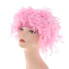Карнавальный парик перьевой 40 гр, цвет розовый