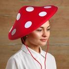"""Hat of felt """"Mushroom"""" with ties, PP 56-58"""