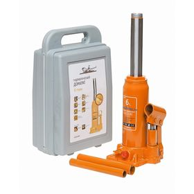 Bottle jack Airline, 6 t, lifting height 200-405 mm, in case