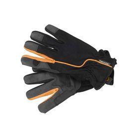 Перчатки текстильные, с замшевыми ладонями, размер 10