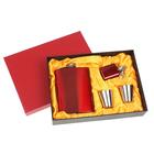 Набор 4в1 (фляжка 240 мл+фляжка 30 мл+2 рюмки), красный, 17х23 см УЦЕНКА