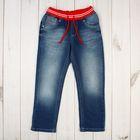 Джинсы для девочки, рост 104 см, цвет синий 2159