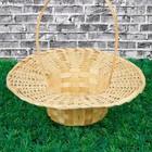 Корзинка «Шляпа», плотного плетения, D=27 см, Н=8,5 см, бамбук