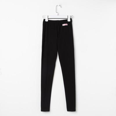 Леггинсы женские KAFTAN basic, цвет черный, размер S (44) хлопок, эластан