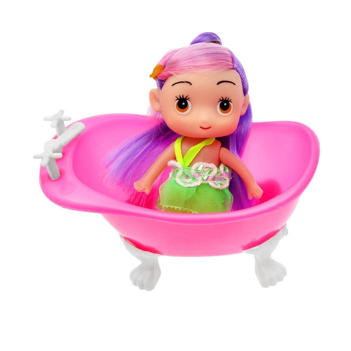 Кукла малышка с ванной, МИКС
