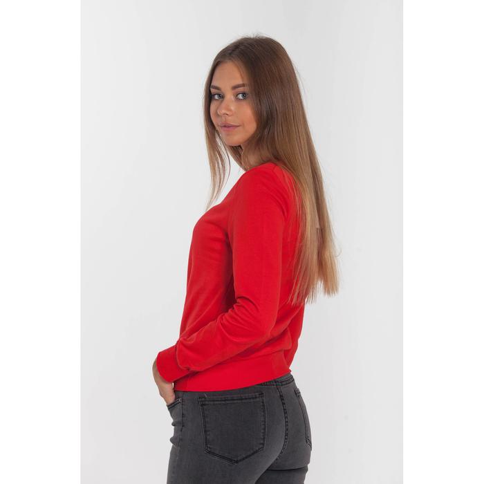 Толстовка женская KAFTAN basic, цвет красный, размер S(44), хлопок 100%