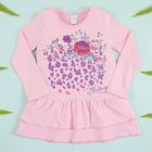 """Платье для девочки KAFTAN """"Модница"""", розовое, рост 122-128 (34), 7-8 лет, 100% хлопок"""