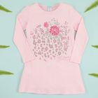 """Платье-туника KAFTAN """"Цветы"""" (П2), рост 98-104 (30), 3-4 года, цвет розовый, 100% хлопок"""